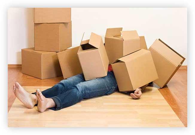 Упаковка вещей при переезде